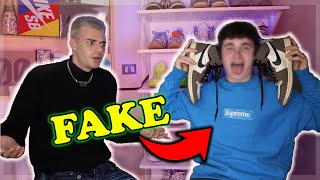 DISCUSSIONE LIVE CON UN FAN CHE VESTE *FAKE*!
