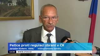 Jaroslav Kubera k Petici proti regulaci zbraní v ČR (ČT24)