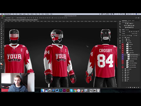 How To Design The Hockey Uniform of NHL Philadelphia Flyers   Photoshop Template Tutorial