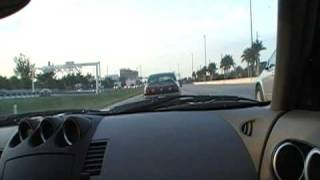 FROM KENDALL TO DORAL ( MIAMI FLORIDA) 6.30 PM NO TRAFFIC NISSAN 350Z