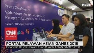 Peluncuran Portal Relawan Asian Games 2018
