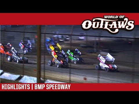 World of Outlaws Craftsman Sprint Cars BMP Speedway August 26, 2017 | HIGHLIGHTS