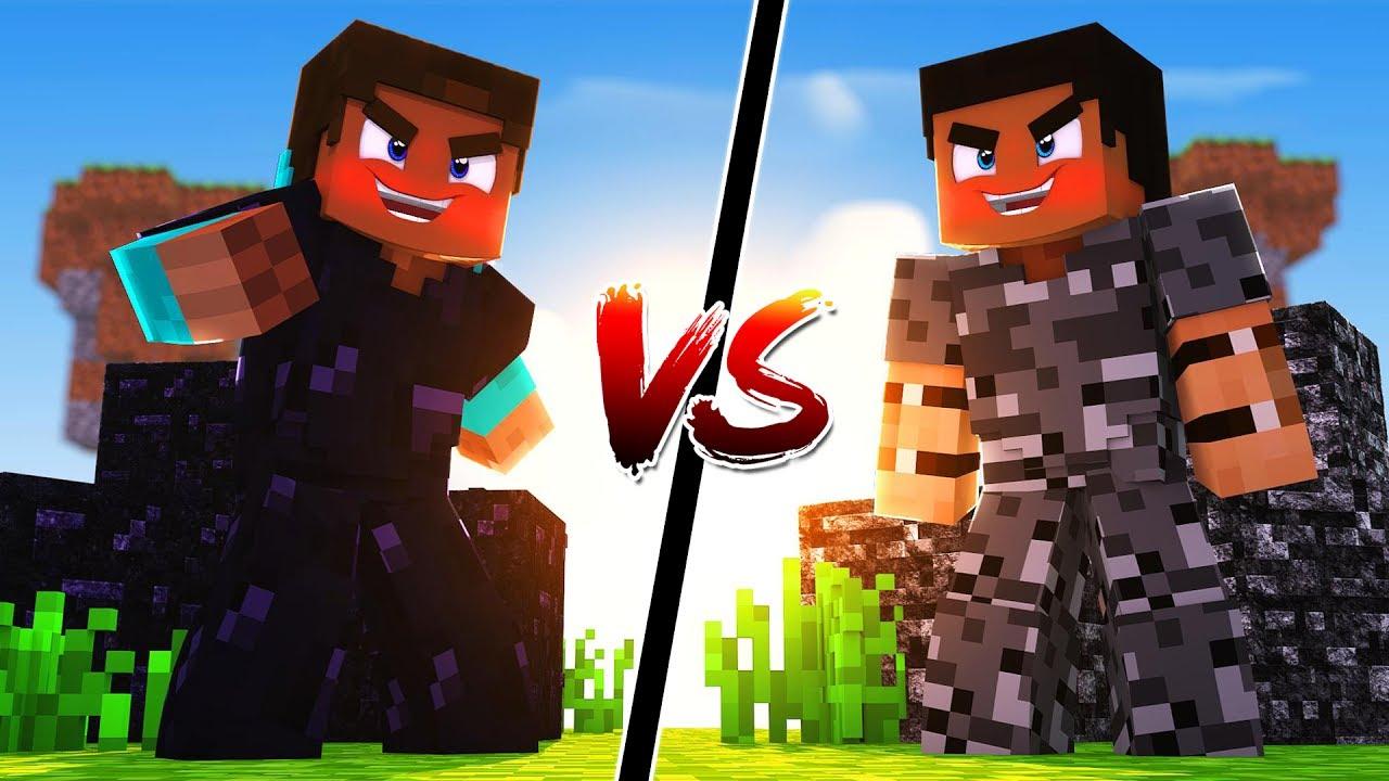 OBSIDIAN Armor Vs BEDROCK Armor Minecraft YouTube
