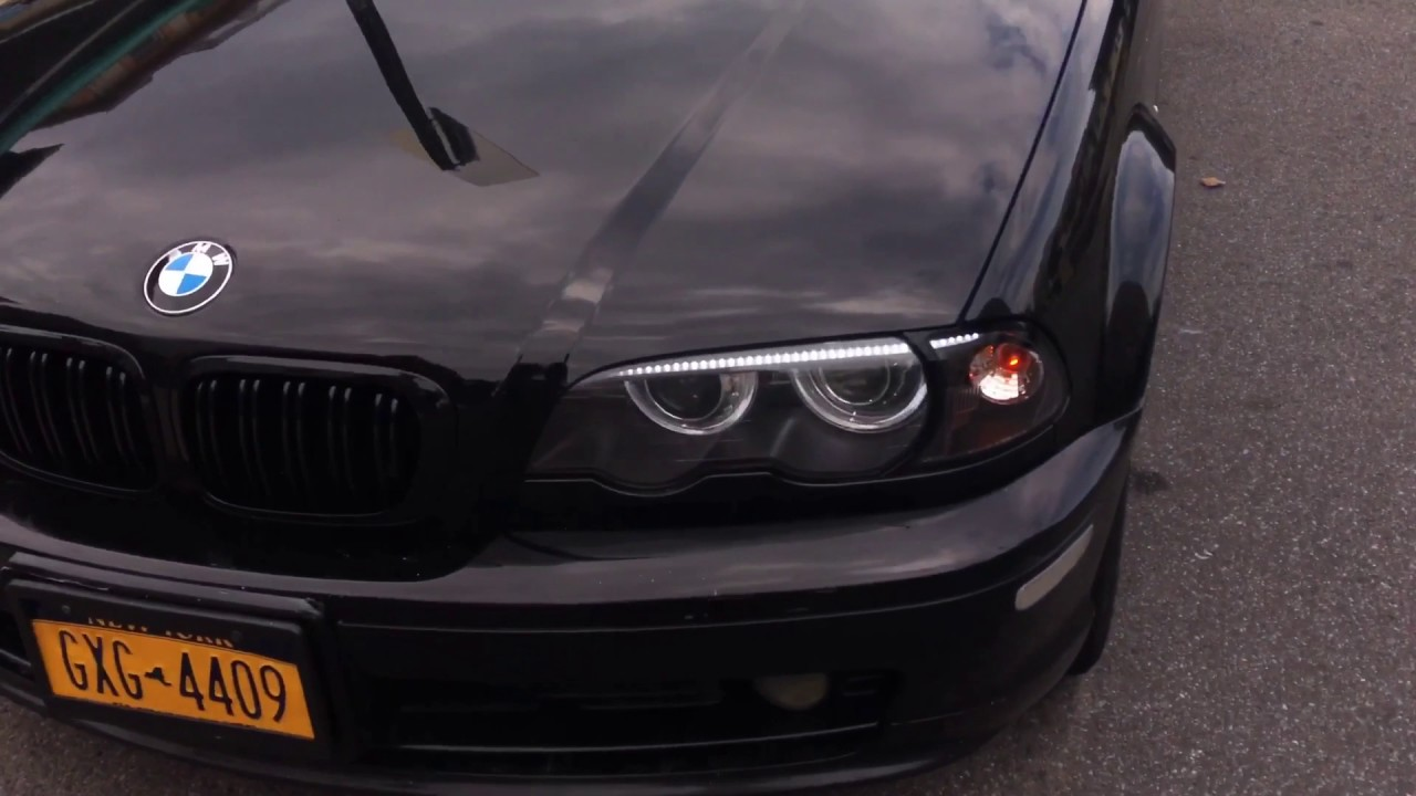 Bmw e46 custom DIY led drl switchback sequential eyebrows