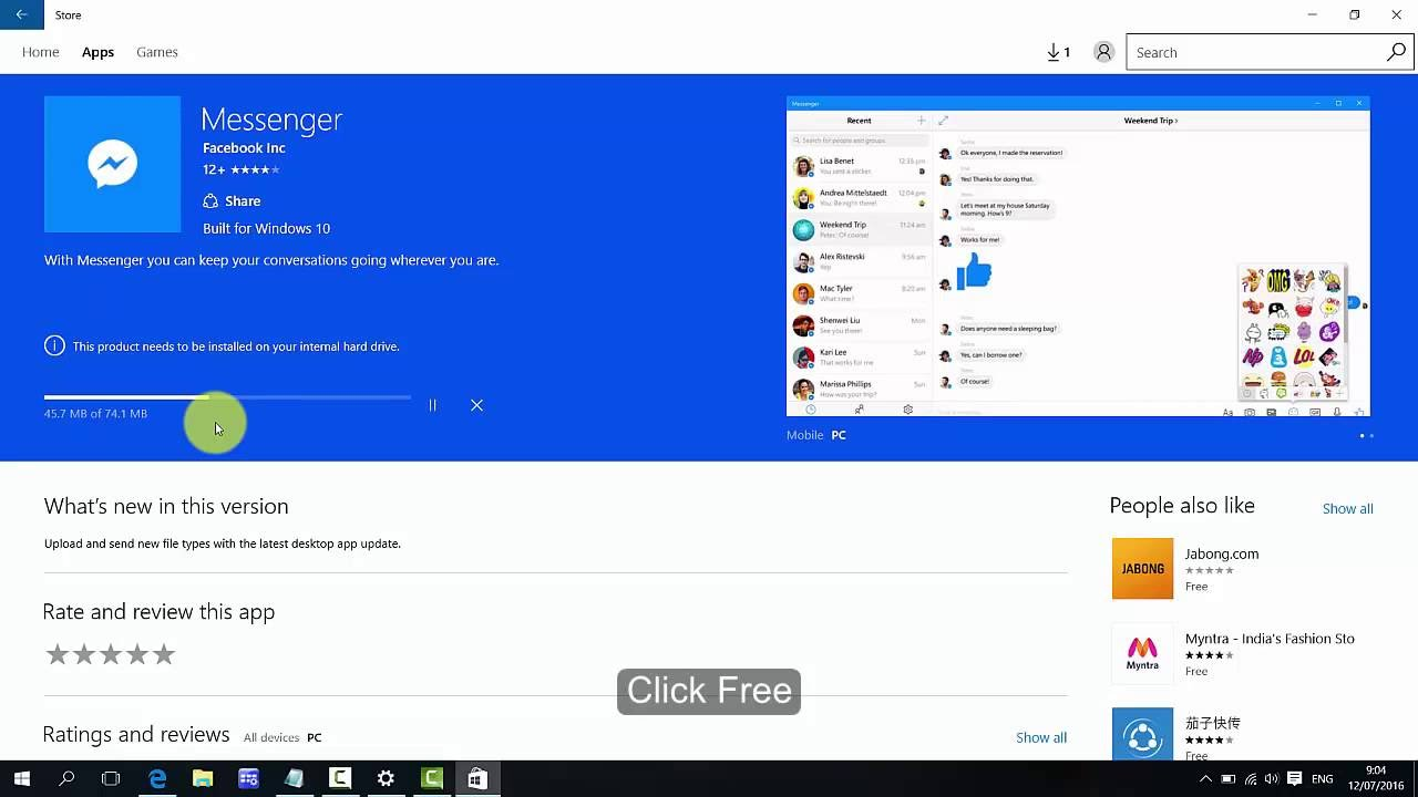 How to install Facebook Messenger on Windows 10