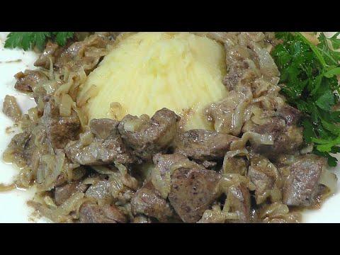 Куриная печень с луком в сметане - самый лучший рецепт!