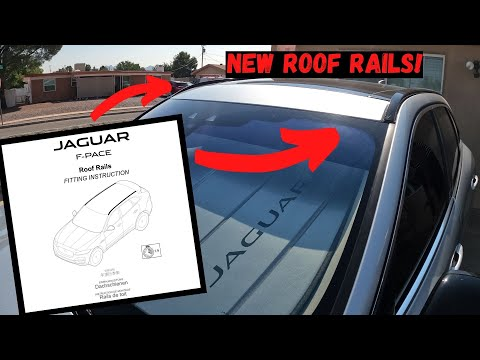 HOW TO INSTALL ROOF RAILS 2017-2019 JAGUAR F-PACE |(Part 2) T4A6072 & T4A6067 Roof Rail Installation