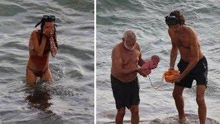 Diese Frau erlitt eine Sturzgeburt im Roten Meer vor den Augen hunderte Touristen!