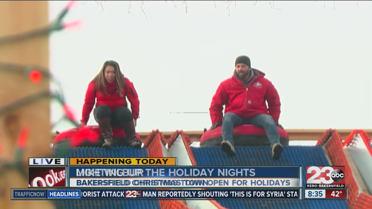 not a sleigh ride but a tube ride at bakersfield christmas town - Bakersfield Christmas Town