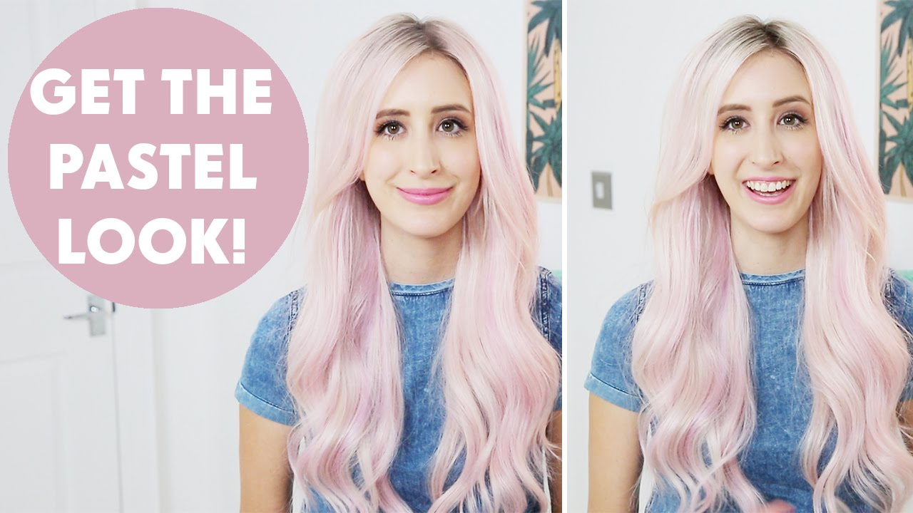 Best Way Pastel Hair Extensions Youtube