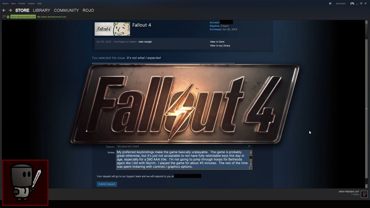 Why i requested a refund for fallout 4 november 12 2015 youtube why i requested a refund for fallout 4 november 12 2015 ccuart Gallery