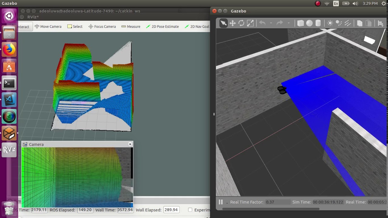 UAV Autonomous Navigation , 2D and 3D Mapping in ROS using Gazebo, Rviz,  Hector SLAM and Octomap