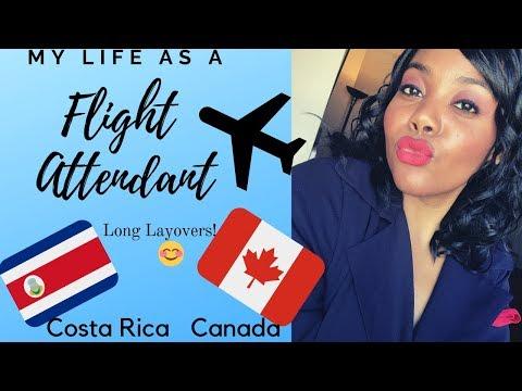 FLIGHT ATTENDANT LIFE: 🇨🇷 SAN JOSE, COSTA RICA & 🇨🇦 MONTREAL, QUEBEC, CANADA | Travel Vlog