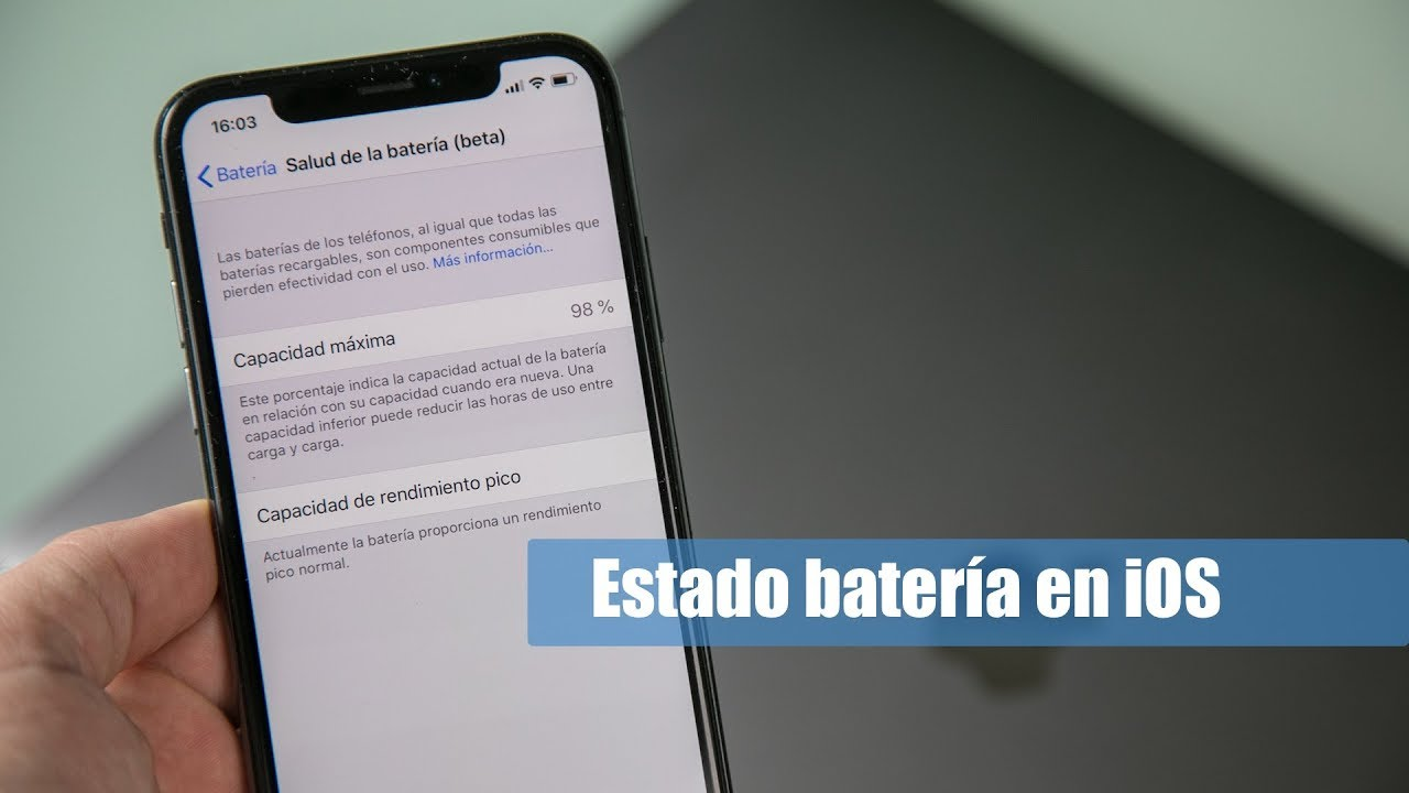 fc150660179 Cómo saber el estado de la batería en iOS iPhone y iPad en Español ...