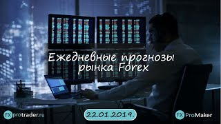 Комплексная аналитика рынка FOREX на сегодня 22.01.2019.