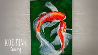 How To Paint Koi Fish ~ Beginners! Step By Step Painting Tutorial