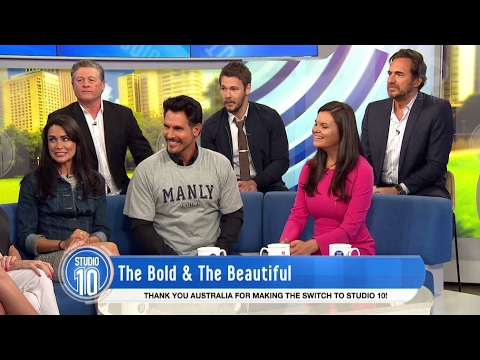 'The Bold & The Beautiful' Cast Talk  Drama & Taste Aussie Delicacies  Studio 10