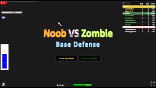 the NOOB VS ZOMBIE ROBLOX GAME!