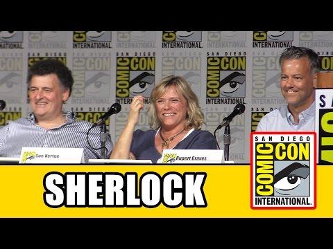 Sherlock Comic Con 2015 Panel  Rupert Graves, Steven Moffat, Sue Vertue