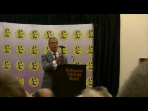 An Audience with Nigel Farage at United Kingdom Independence Party UKIP) North West Rally Liverpool