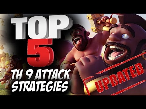 Top 5 Best TH9 Attack Strategies (Updated) for Clan Wars | 3 Star Attacks | Clash of Clans