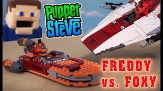 Five Nights at Freddy's Star Wars Lego Pt 1 Last Jedi Movie Landspeeder A-Wing Unbox Mcfarlane Fnaf