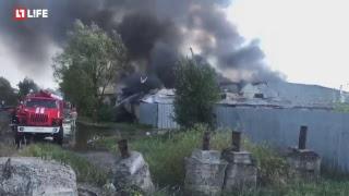 Пожар у торгового центра на Каширке