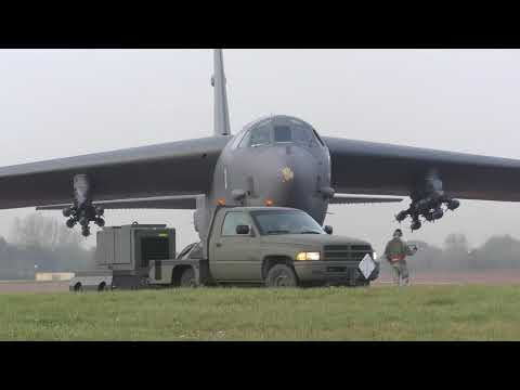 B-52 - FREDY 96 - Start Up - Take Off - Land - Fairford - 31/10/19