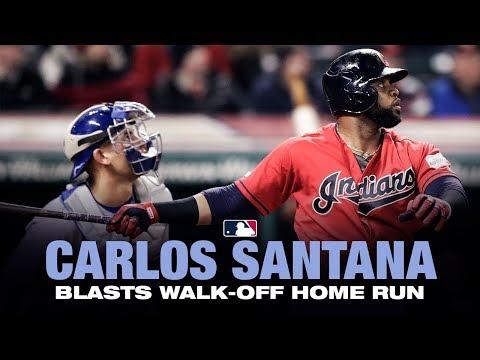 Carlos Santana's walk-off homer against the Blue Jays