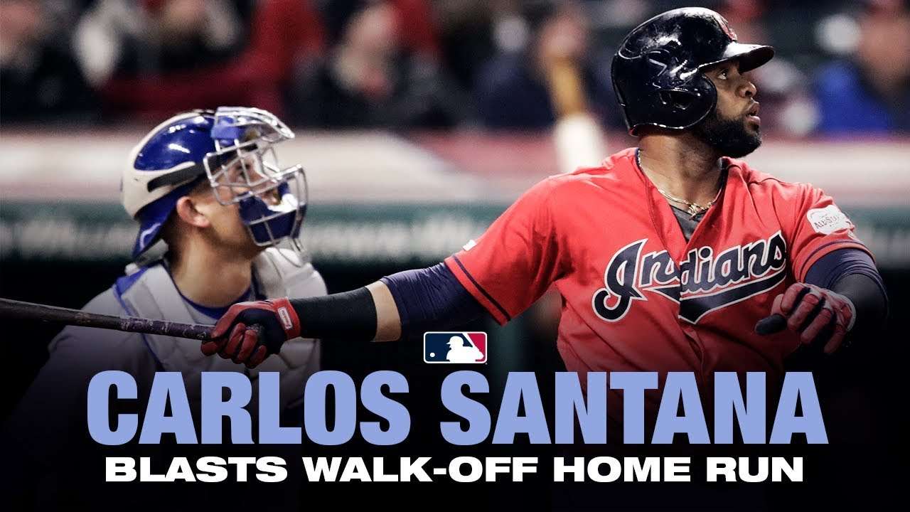 Santana hits WALK-OFF homer vs. Blue Jays
