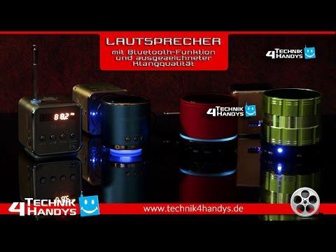 Mini Lautsprecher mit Bluetooth-Funktion, Radio und ausgezeichneter Klangqualität