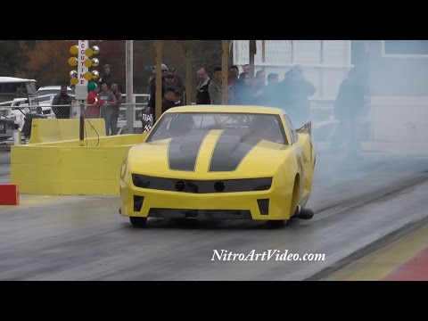 "Jeff Miller's ""Bumblebee"" Back When?? N/T Hits Grudge Racing Drag Racing"