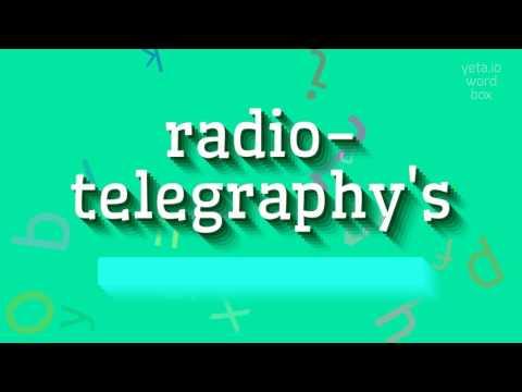 "How to say ""radio-telegraphy"