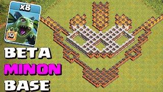 BETA MINON BASE!! | ALL MINON ATTACK!!  Clash Of Clans
