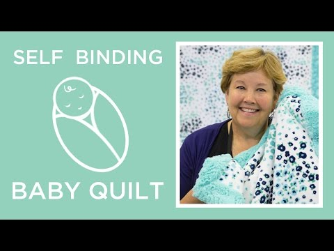 Self Binding Baby Blanket with Shannon Cuddle (Video Tutorial)