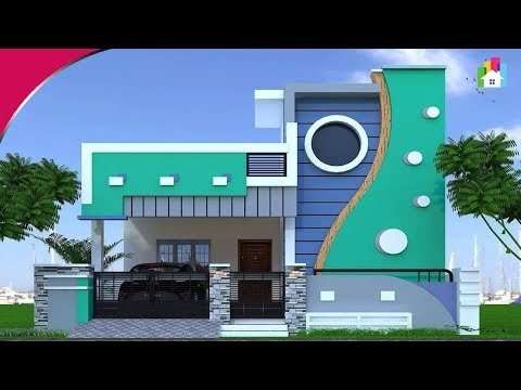 Awesome Single floor elevation designs 2019 | 3D Small home Front