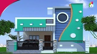 Awesome Single floor elevation designs 2019 | 3D Small home Front view designs