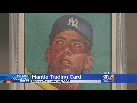 Mickey Mantle Baseball Card Worth 10 Million Now On Display