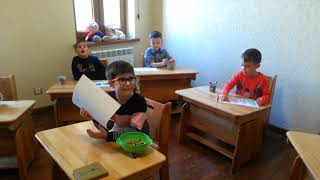 1 Фрагмент занятия в группе обучения разговорному осетинскому языку детей 3,5 6 лет