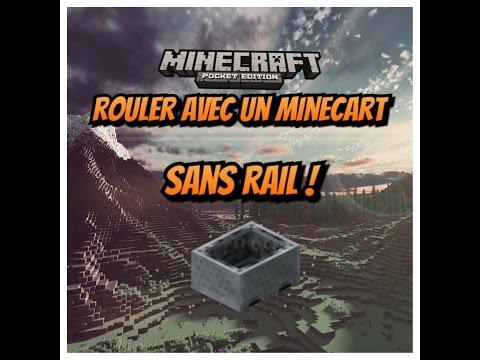 ROULER AVEC UN MINECART SANS RAIL / Minecraft Pe