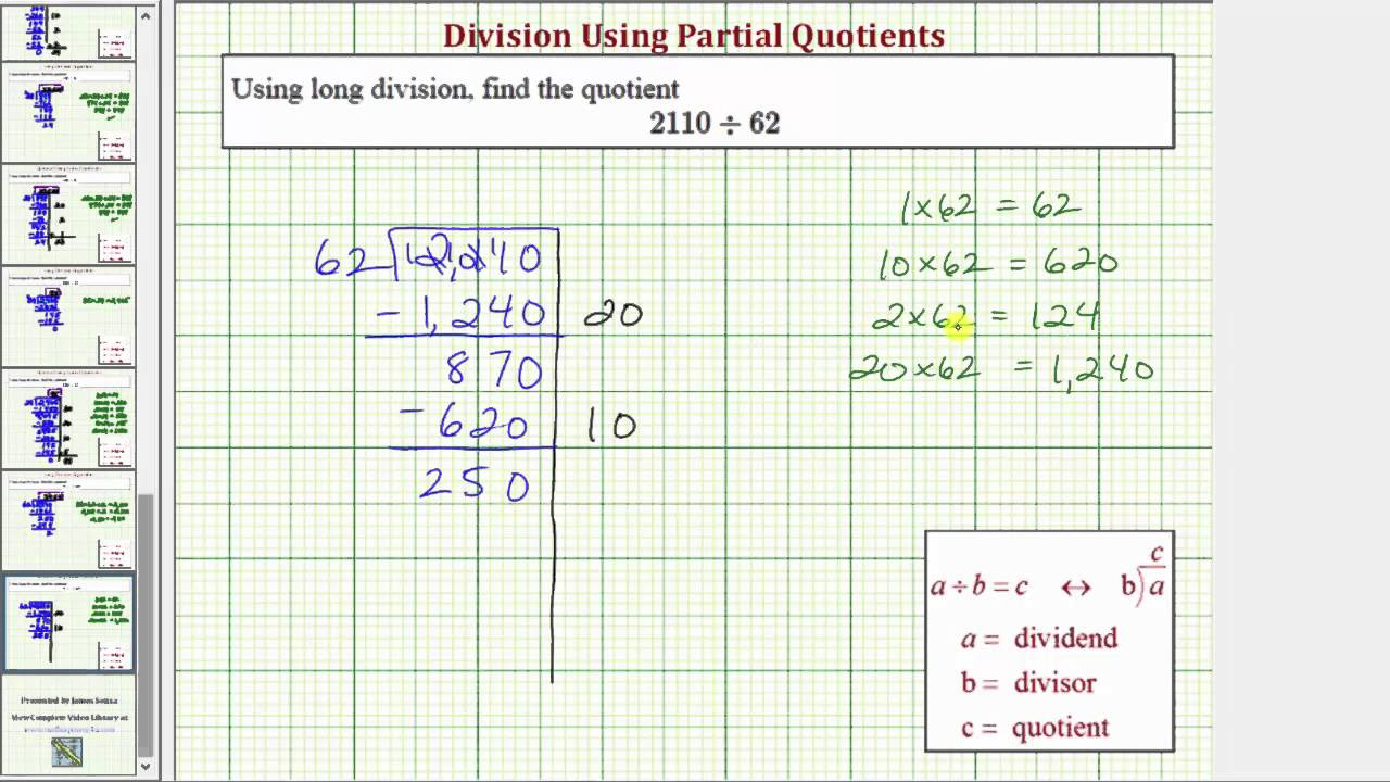 worksheet Partial Quotients Worksheet ex division using partial quotient 4 digit divided by 2 with remainder