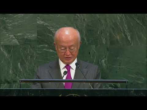 Yukiya Amano (IAEA Director General) on the IAEA Report - General Assembly