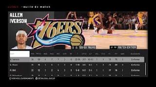 NBA 2K19 PS4 2k2 Los Angeles Lakers vs Philadelphie 76ers [Kobe,Shaq,Fox,Fish,Horry,AI,Coleman] 2nd