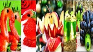 5 BEAUTIFUL FOOD CARVING AND CUTTING FRUITS LIKE A PRO