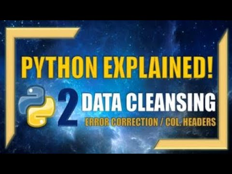 How to Clean-up Data Tables using Python (Part 2) - Error Correction / Column Title Change