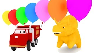 Apprendre les couleurs et les chiffres avec Dino le Dinosaure | dessin animé éducatif pour enfants