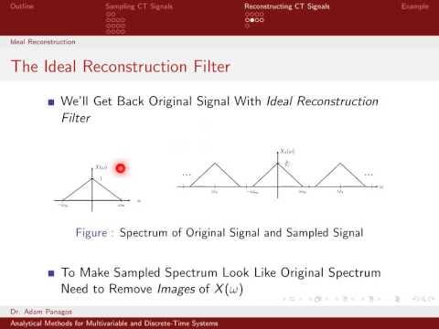 Sampling Signals (10/13) - Ideal Reconstruction