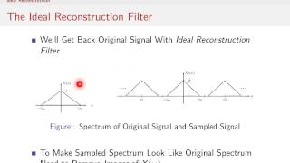 Sampling Signals (10/13) - Ideal Reconstruction