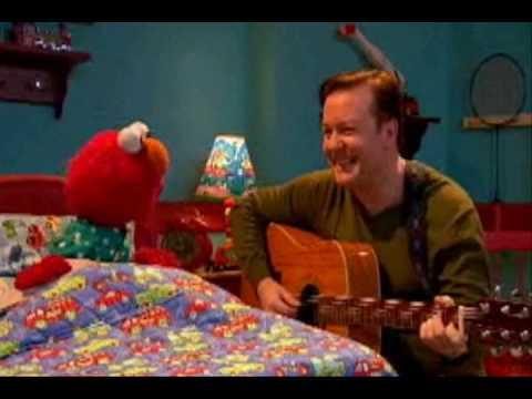 Sesame Street  -  Ricky Gervais & Elmo