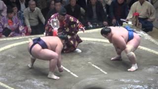 20150113 大相撲初場所3日目 栃煌山vs琴将菊.